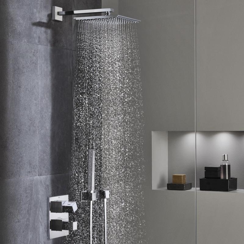 Grohtherm cube ensemble de douche avec rainshower allure 230 34506000 livea sanitaire sas - Ensemble douche grohe ...