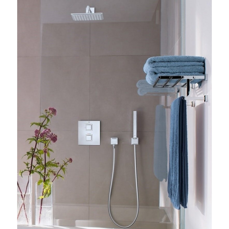 Grohtherm cube ensemble de douche avec rainshower allure - Ensemble douche thermostatique grohe ...