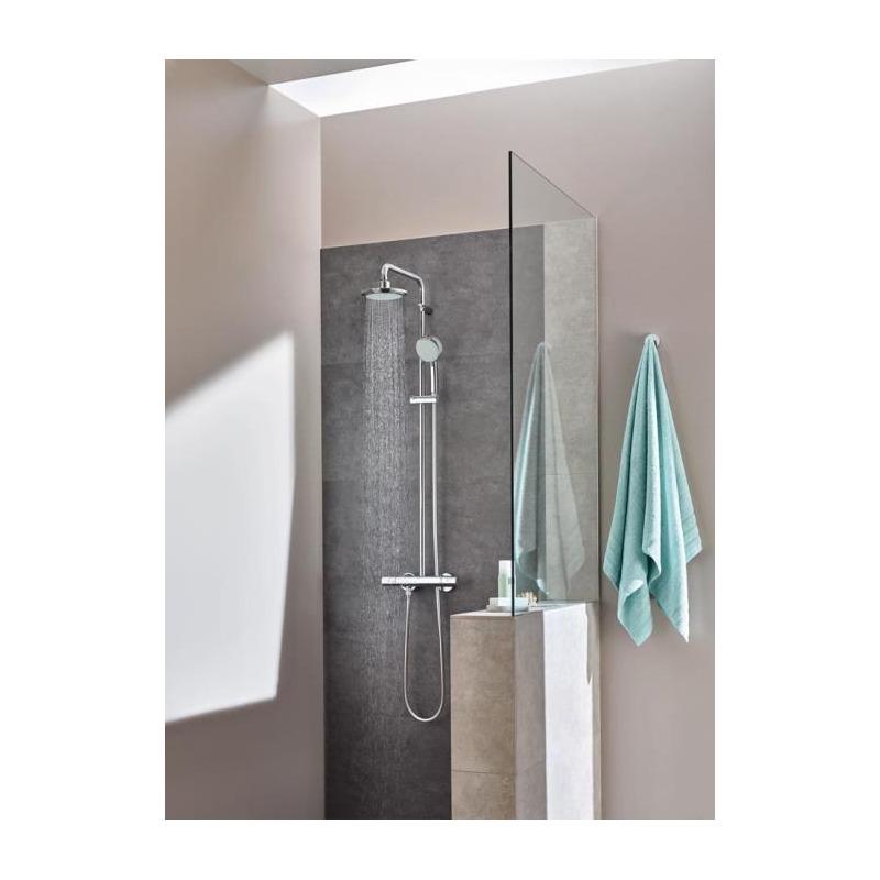 tempesta cosmopolitan 160 colonne de douche avec mitigeur thermostatique 27922000 livea. Black Bedroom Furniture Sets. Home Design Ideas