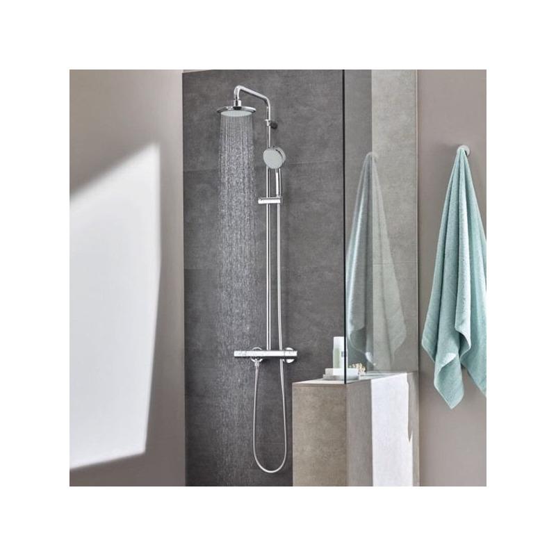 Tempesta cosmopolitan 160 colonne de douche avec mitigeur thermostatique 27922000 livea - Colonne de douche avec mitigeur thermostatique ...