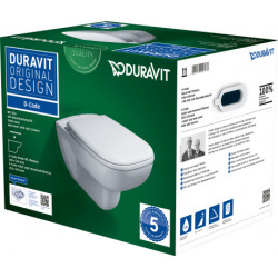 D-Code Pack WC suspendu Duravit Rimless avec abattant SoftClose (45700900A1)