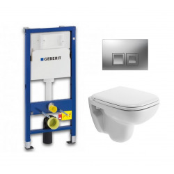 Pack WC Geberit UP100 Duofix + Cuvette D-Code Duravit Rimless + abattant SoftClose + Plaque de commande Delta50 (DCODESET7)