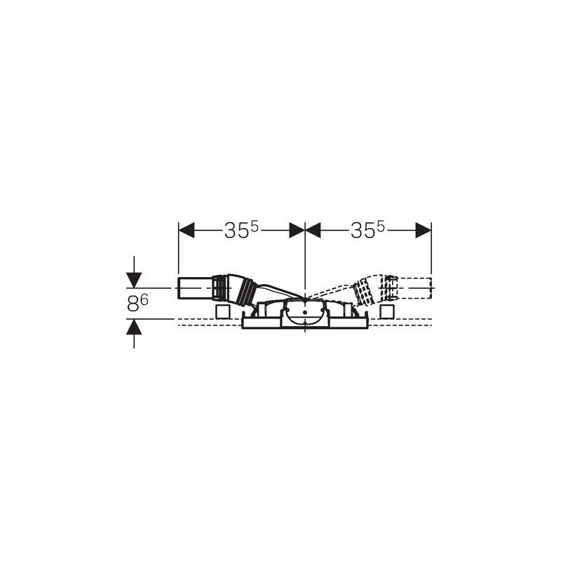 b ti support douche duofix 50 cm avec vacuation murale hauteur de chape 65 90 mm. Black Bedroom Furniture Sets. Home Design Ideas