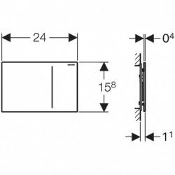 Geberit sigma70 - Bouton de control sigma70