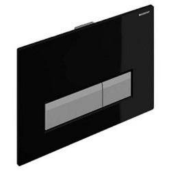 Sigma40 Plaque de déclenchement pour rinçage double touche, avec aspiration des odeurs intégrée, Noir (115.600.KR.1)