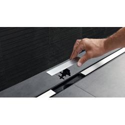 Geberit Canal de douche en acier inoxydable, 90 cm, métal poli (154.450.KS.1)