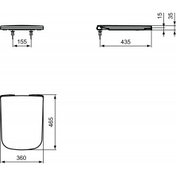 Ideal Standard MIA Abattant WC fermeture amortie (J505801)