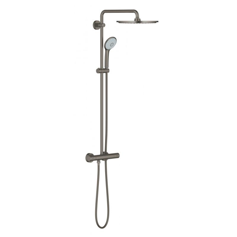 Euphoria system 310 colonne de douche avec thermostatique pour montage mural 26075al0 livea - Montage colonne de douche ...