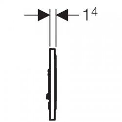 Sigma10 Plaque de déclenchement pour rinçage interrompable, Noir/chromé (115.758.KM.5)