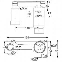 E2 - Mitigeur pour lavabo chromé (492440575-set)