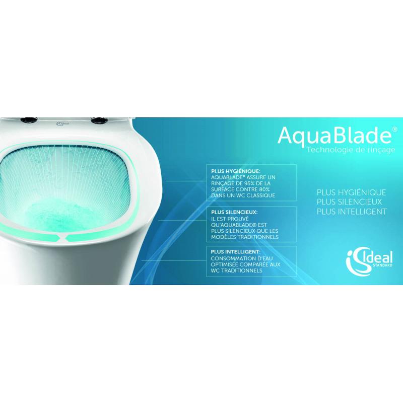 pack wc geberit duofix cuvette ideal standard tesi aquablade plaque de commande sigma01. Black Bedroom Furniture Sets. Home Design Ideas