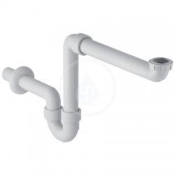 Geberit Siphon en tube coudé pour lavabo, modèle gain de place, sortie horizontale, Blanc alpin (151.107.11.1)