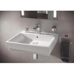 Cube Ceramic Lavabo, 600x490 mm, PureGuard, blanc alpin (3947300H)
