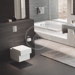 Cube Ceramic WC suspendu, PureGuard, Blanc alpin (3924500H)