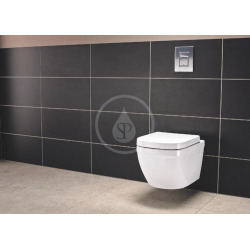 Euro Ceramic Cuvette WC suspendue avec PureGuard, blanc alpin (3932800H)