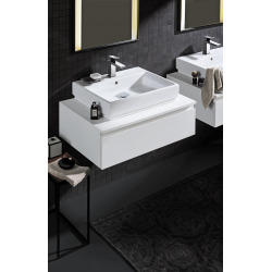Cube Ceramic Lavabo, 500 x 490 mm, Blanc alpin (3947400H)