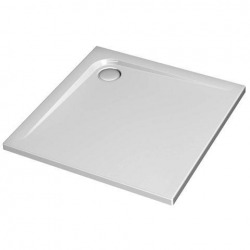 Receveur ULTRA FLAT carré, 90 x 90 cm, extra-plat, avec traitement anti-dérapant, blanc (K5173YK)