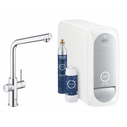 Blue Home Kit de démarrage Mitigeur bec L Chrome (31454001)