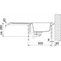 EUROFORM - EFG 614-78 évier en Fragnit graphite évier de cuisine 780x475 mm (114.0120.087)