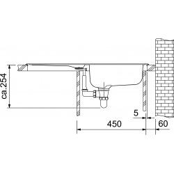 Euroform évier - EFL 614-78 Acier inoxydable, 780x475 mm + siphon (101.0286.768)