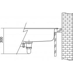 Planar - Inox Évier PPX 210/610-44 TL, 440x512 mm + siphon (127.0203.470)