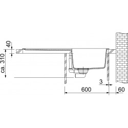 Franke Orion - OID 611 Tectonite® Café Crème Evier 940x510 mm (114.0288.545)