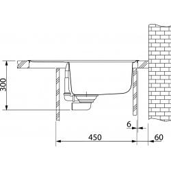 Franke Orion - OID 611-62 Tectonite® Café Crème, 620x500 mm (114.0288.584)