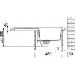 Franke Orion - OID 611-78 évier de cuisine à encastrer Tectonite® Carbone