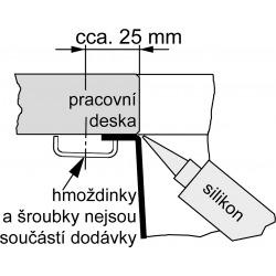 Planar - Inox Évier PPX 111, 980x450 mm + siphon (122.0198.364)