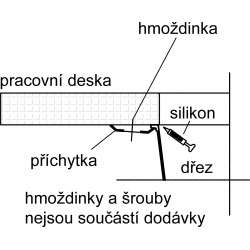 Sirius - SID 110-34 Tectonite® Carbone Evier (125.0363.785)