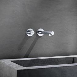 Axor UNO Mitigeur lavabo Select encastré mural, bec 165mm, bonde à écoulement libre, chromé (45112000)