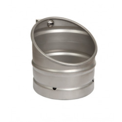 Urinoir KEG en acier inoxydable avec unité de rinçage infrarouge, 24 V CC (SLPN 10E)