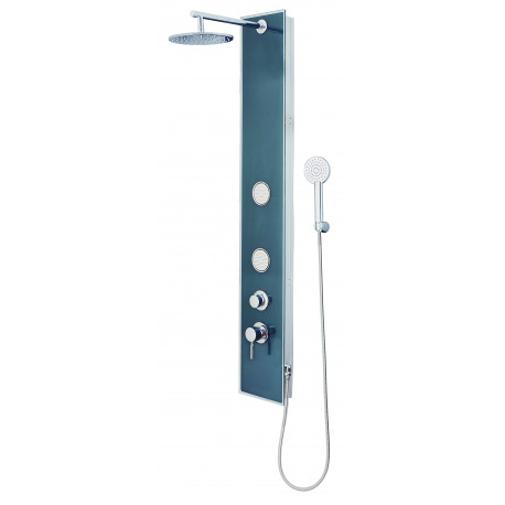 ibiza panneau de douche en verre couleur anthracite mitigeur monocommande douche 2 jets. Black Bedroom Furniture Sets. Home Design Ideas