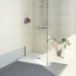 Receveur de douche à carreler Aqua Centré 1200 x900x40mm siphon vertical offert (4512089 + 4512008)