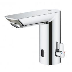Grohe Bau Cosmopolitan E Mitigeur lavabo infrarouge 1/2″ avec limiteur de température ajustable, Chromé (36451000)