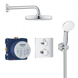 Set de douche Tempesta 210 avec thermostat encastré, chrome (34729000)
