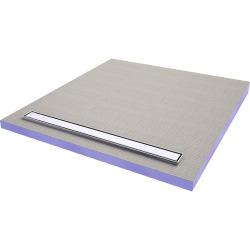 ACKOBOARD Aqua line easy Receveur à carreler avec barrette inox 180x90 cm