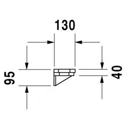 DURAVIT1930 - ETAGÈRE 650 X 130 MM