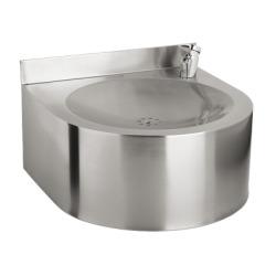 Nerezová pitná fontánka závěsná s tlačnou armaturou