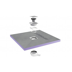 Jackon Receveur de douche à carreler Aqua Centré 1500x1500x40mm siphon horizontal offert (4512131 + 4512007)