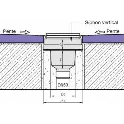 Jackon Receveur de douche à carreler Aqua Centré 1200x900x40mm siphon vertical offert (4512094 + 4512008)