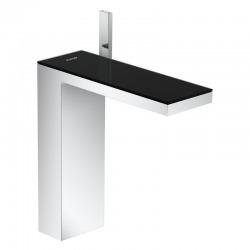 Robinet de lavabo avec sortie Push-Open, chrome / noir (47020600)