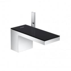 Robinet de lavabo avec sortie Push-Open, chrome / noir (47010600)