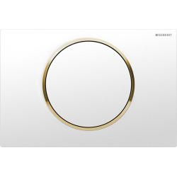 Plaque de déclenchement Sigma10 ST blanc-doré (115.758.KK.5) - DESTOCKAGE