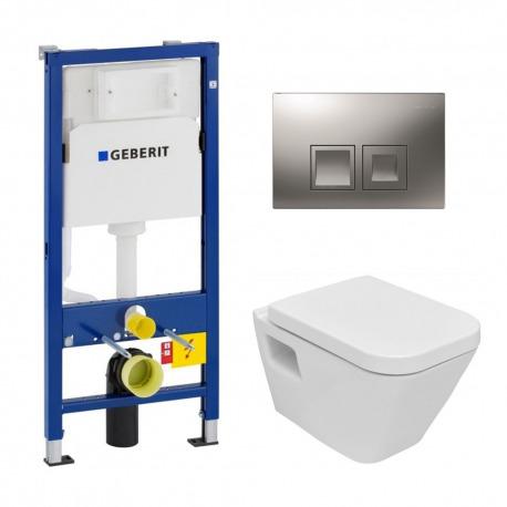 Geberit Pack WC Geberit duofix UP100 + Cuvette Jika (groupe Roca-Laufen) + Plaque de commande