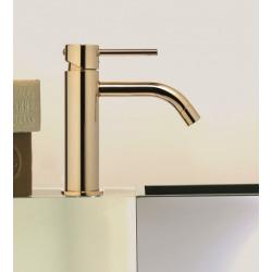 Paffoni Mitigeur lavabo sans tirette ni vidage, finition White gold (LIG071WG)