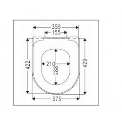 Abattant WC Omnia architectura avec abattant softclose et quick release (98M9C101)