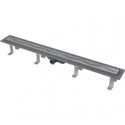 Caniveau de douche simple pour grilles perforées 95 x 14,5 x 8 cm (CPZ8-950M)