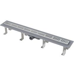 Drain de douche simple pour grilles perforées 75 x 14,5 x 8 cm CPZ10-750M
