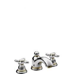 Axor Carlton Mélangeur lavabo 3 trous 50 avec vidage à tirette et poignées croisillons 17133000